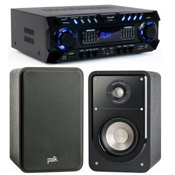 Equipo Karaoke Amplificador Bluetooth Audibax ZERO 1000 80+80W RMS + Altavoces Polk Audio Signature S15