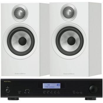 ROTEL A-11 Black + BW 606 White conjunto audio