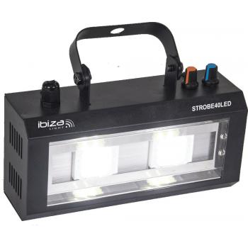 Ibiza Light STROBE 40 LED STROBOSCOPIO DE LED 2 X 20W
