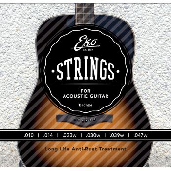 Eko Bronze Light 10-47 Cuerdas Para Guitarra Acustica