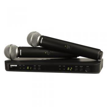 SHURE BLX288 SM58 Micrófono inalambrico Dual de Mano