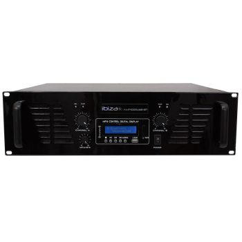 IBIZA SOUND AMP1000USB-BT Etapa Potencia 2 x 800 W, USB y BLUETOOTH ( REACONDICIONADO )