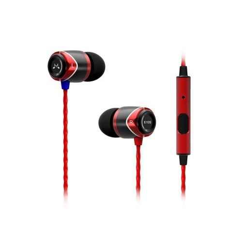 SoundMagic E10S Negro/Rojo Auriculares con Micro IN EAR