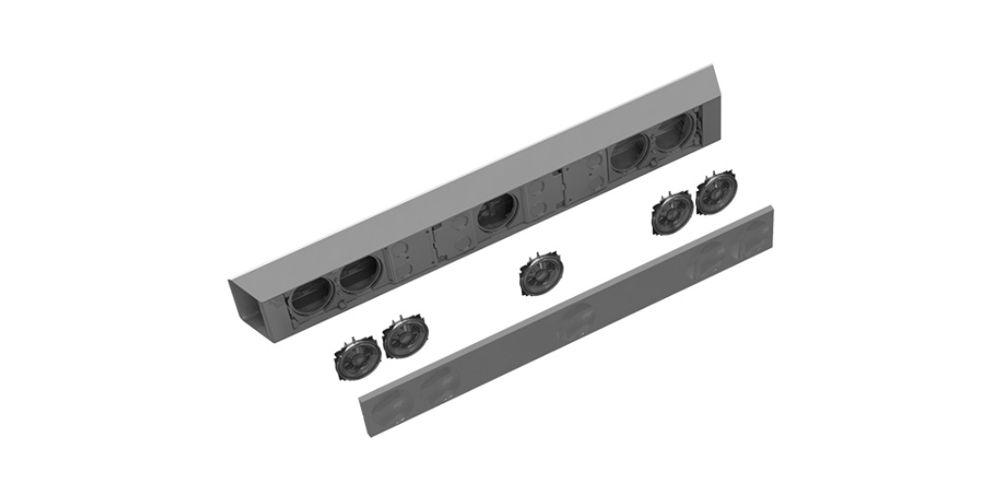 Dimension barra sonido altavoces