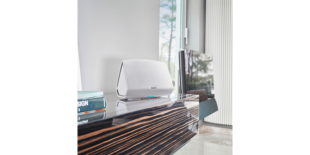 heos 5 hs2 white wireless multiroom speaker bluetooth