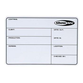 DAP Audio Flightcase Label SHOWTEC magnetic with 3M tape + marker D5132