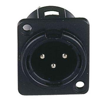 DAP Audio Conector XLR Chasis 3P Negro RF:XMC103B