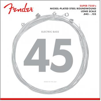 Fender 7250 Bass Cuerdas de Niquel Plateadas 7250-5M .045-.125