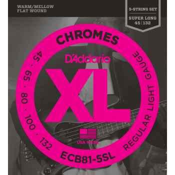 D´addario ECB81-5SL Chromes 5 cuerdas para bajo