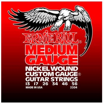 Ernie Ball 2204 Medium Gauge Nickel Wound Juego de 6 Cuerdas para Guitarra Electrica