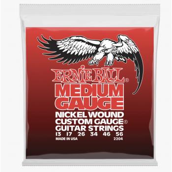 Ernie Ball 2204 Medium Gauge Nickel Wound Cuerdas Para Guitarra Eléctrica 13-56