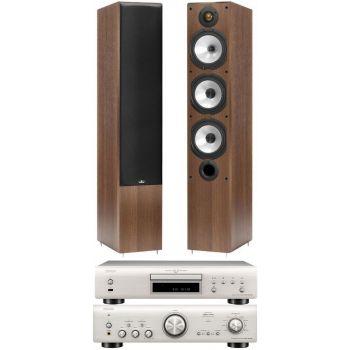 Denon PMA-800AE Silver +DCD800 Black+MR6 Silver Conjunto sonido