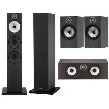 BW 603+BW607+BW HTM6 Black Conjunto altavoces Home Cinema