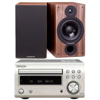 DENON RCDM-41 Silver + Cambridge Audio SX-60 Walnut