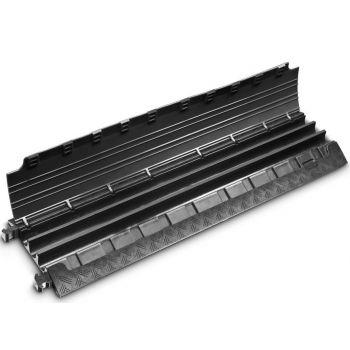 Defender MINI 85200BLK Pasacables de 3 Canales con Tapa negra