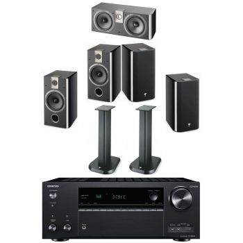 Onkyo TX-NR 686 BK+Focal Chorus 706 Bk+Chorus 706+Chorus CC700+Soportes Regalo