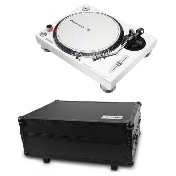 PIONEER PLX 500 Blanco Giradiscos Dj Flight Case PRO-TURN