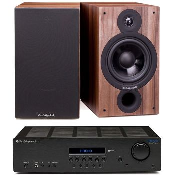 CAMBRIDGE TOPAZ SR-20+SX60 Walnut Conjunto Sonido