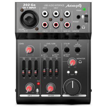Audibax 202 Go Mesa Mezclas 3 Canales y USB