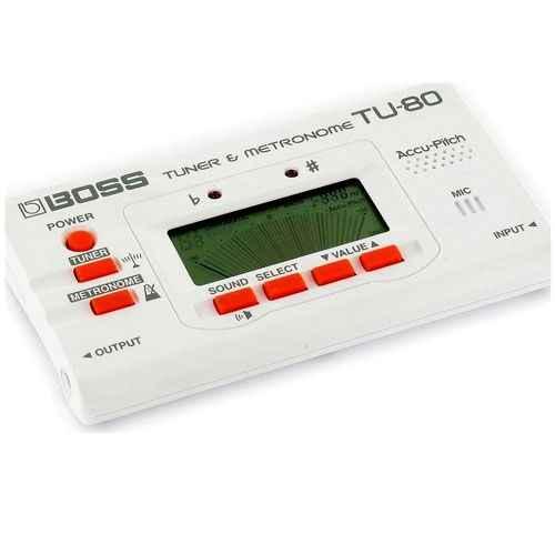 Boss TU 80 Blanco Afinador Guitarra