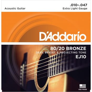 D Addario EJ-10 (010-047) Cuerda Guitarra Acústica