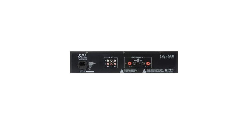 SkyTec SPL 1000BT Amplificador Leds Rojo BT+EQ Negro 175515