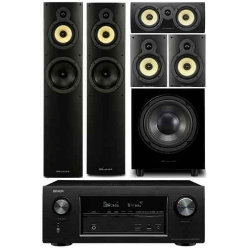 denon avrx2300 wharfedale system 4 conjunto home cinema subwoofer WHD8