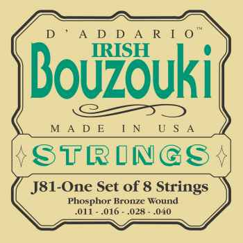 D´addario EJ81 para Bouzouki irlandes