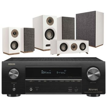 DENON Equipo AV AVR-X1500H + Jamo S803 HCS + S808 SUB Blanco. Altavoces Home Cinema