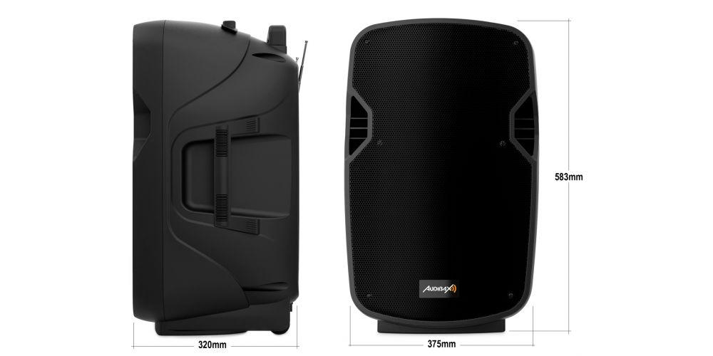 audibax denver 12 altavoz portatil medidas