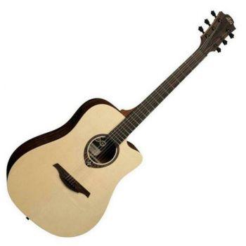 LAG T270DCE Guitarra Electro Acústica Formato Dreadnought Serie Tramontane