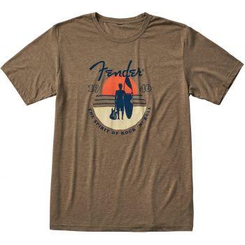 Fender Sunset Spirit T-Shirt Olive Talla L