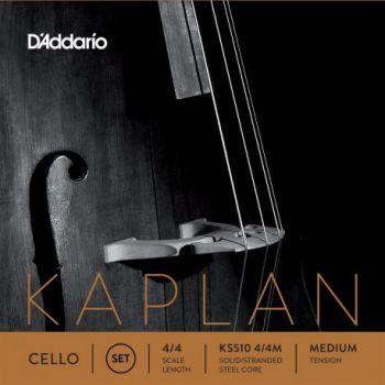 D´addario Kaplan KS510 Set de cuerdas para Violonchelo 4/4, tensión media
