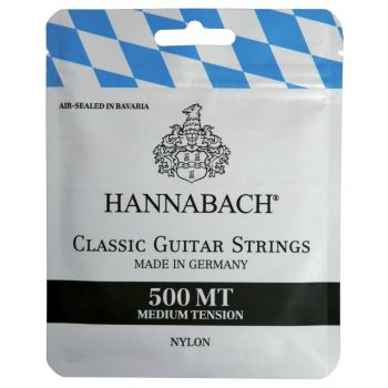 Hannabach 500MT Cuerdas para Guitarra Clásica Tensión Media