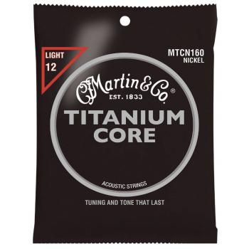 Martin MTCN160 Cuerdas Guitarra Acústica Titanium Light 12-55