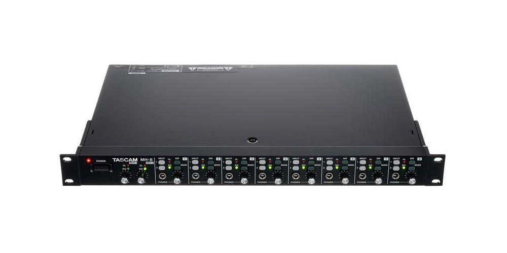 amplificador auriculares Tascam MH 8