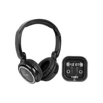 COBY CV215 Negro Plegable + Auriculares Tapón CV-215