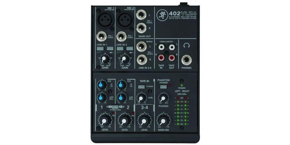 mackie 402vlz4 mezclador 4 canales mesa directo