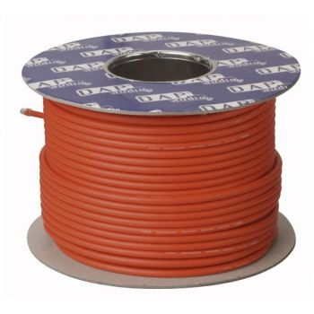 DAP Audio MC-226R Bobina de cable rojo para micrófono con doble aislamiento de 100m
