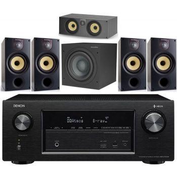 Denon AVRX2400+BW Sistema 686 S2 5.1 Conjunto Home Cinema