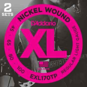 D´addario EXL170TP- XL Nickel Wound (pack 2 juegos) cuerdas para bajo