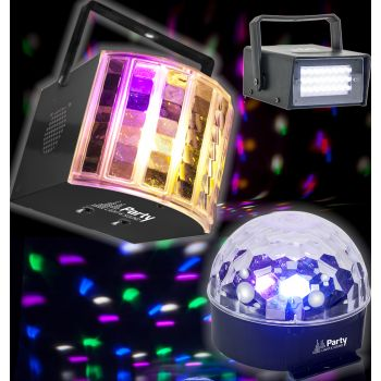 Party 3 Pack de 3 Efectos de Iluminacion Led