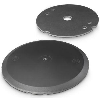 Gravity WB 123 SET 1 B Base redonda con disco de lastre para tubos de M20