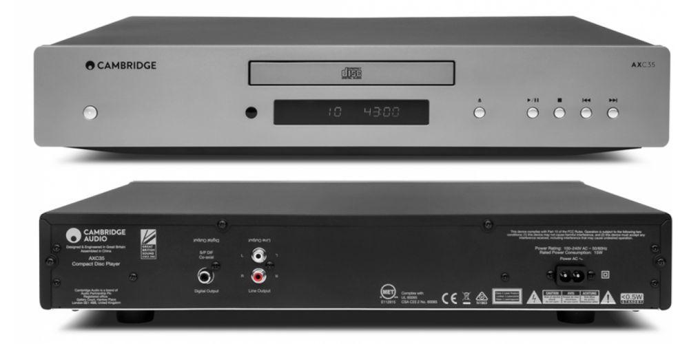 Cambridge Audio AXC35 compact disc conexiones