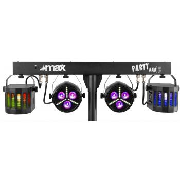 max Partybar12 Set de Iluminacion Con 2 Foco Par y 2 Derby 153012