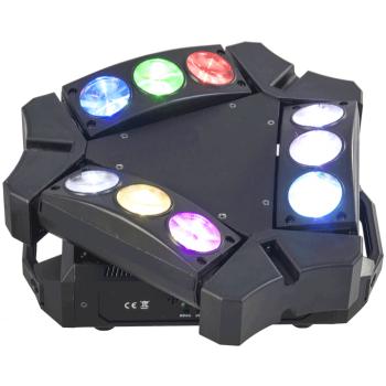 Ibiza Light 9BEAM-MINI Efecto de iluminación Spider