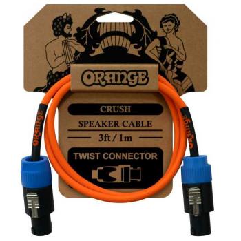 Orange Crush 1M Speaker Speakon-Speakon Cable para altavoz 1m. Acabado en Naranja