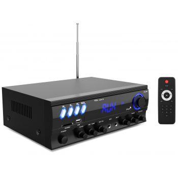 Wiibo Opera 30 Amplificador HiFi Bluetooth 30 + 30W RMS con entrada de 2 Micros. USB y SD
