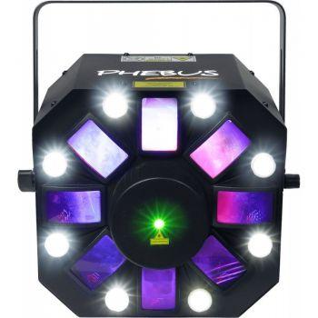 Algam Lighting PHEBUS Proyector Led Laser Multifunción con 8 Cabezas Rotativas