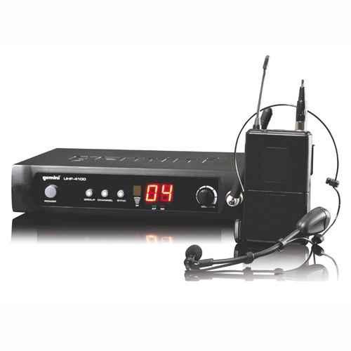 GEMINI UHF-4100HL Microfono Inalambrico Lavalier/Headset  UHF